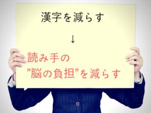 となりのブロガーに教えたい!記事中の漢字を減らす理由は行動経済学で説明できた